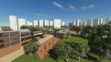 Configuración del espacio publico y áreas verdes.